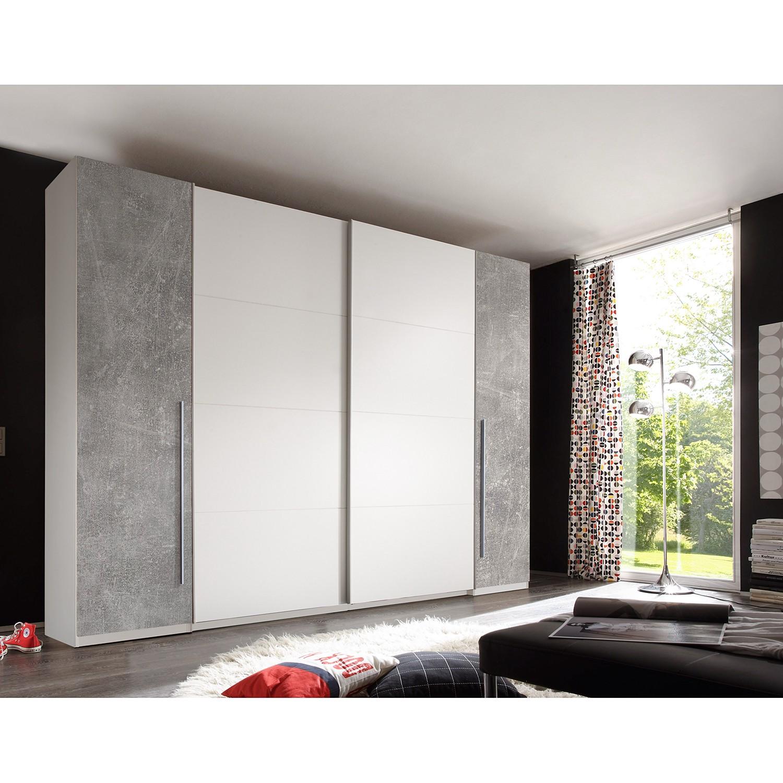 Schlafzimmermöbel - Schwebetuerenschrank Crieff - Fredriks - Weiss