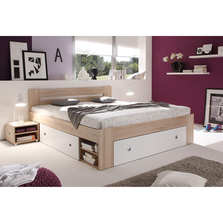 Schlafzimmermöbel - Bettanlage Stefan (3-teilig) - mooved - Braun