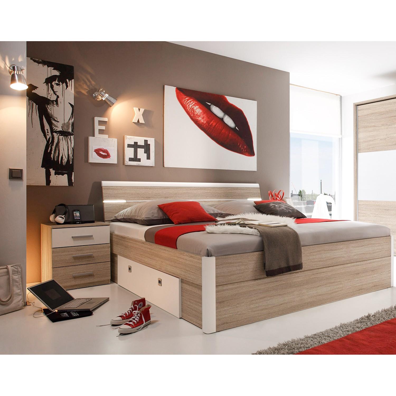 Schlafzimmermöbel - Bettanlage Veneta (3-teilig) - Fredriks - Braun