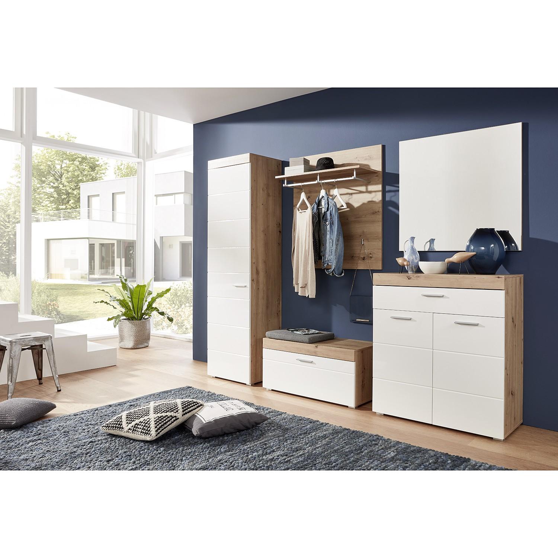 home24 Garderobenset Amanda (5-teilig) | Flur & Diele > Garderoben > Garderoben-Sets | Weiss | Trendteam