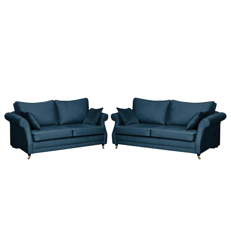 home24 Polstergarnitur Killara (3-2) | Wohnzimmer > Sofas & Couches > Garnituren | Blau | Maison Belfort