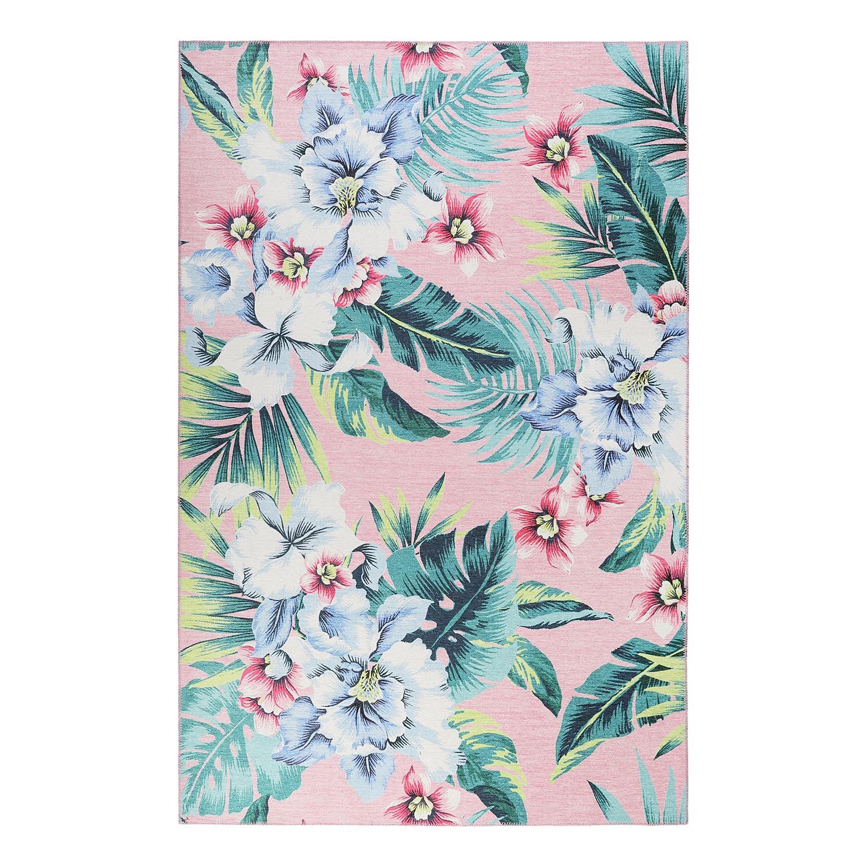 home24 Kurzflorteppich Tropical Orchid