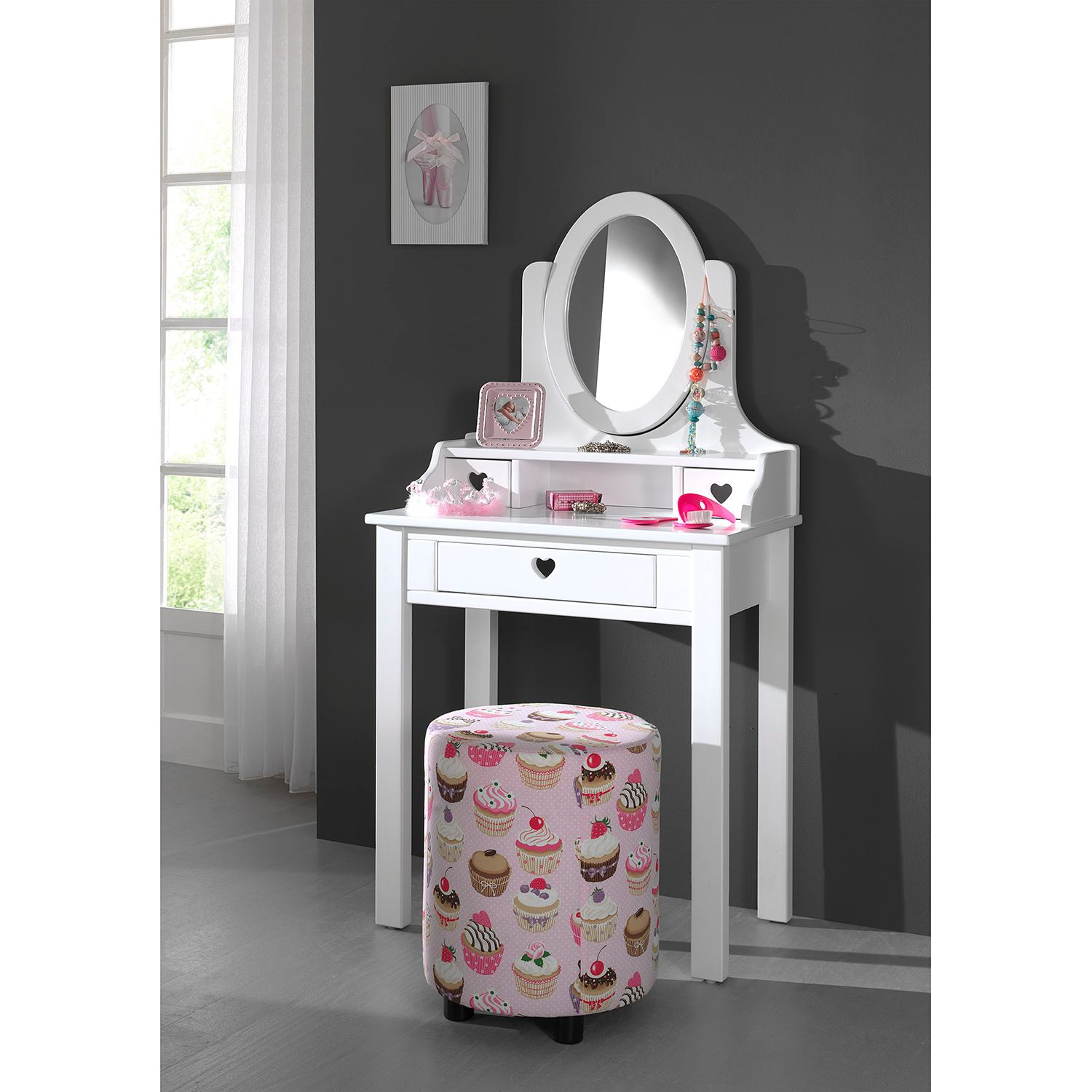 Home24 Make-up tafel Amori, Vipack