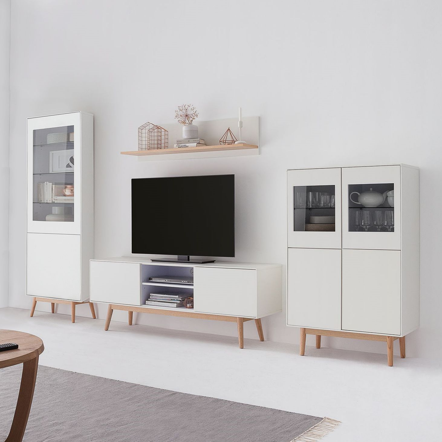 Ensemble meubles TV Lindholm III (4 él.)