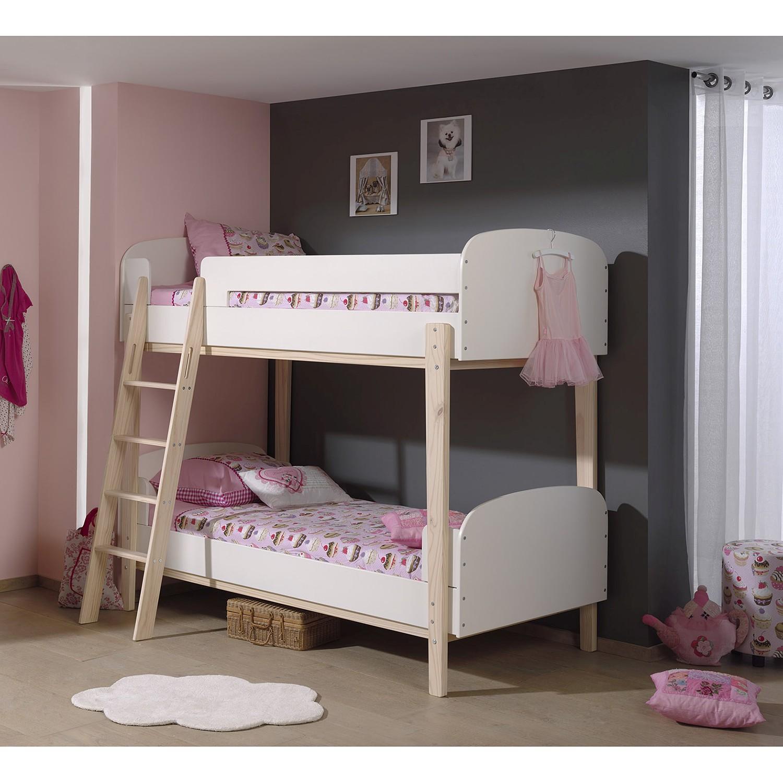 home24 Etagenbett Kiddy | Kinderzimmer > Kinderbetten > Etagenbetten | Weiss | Vipack