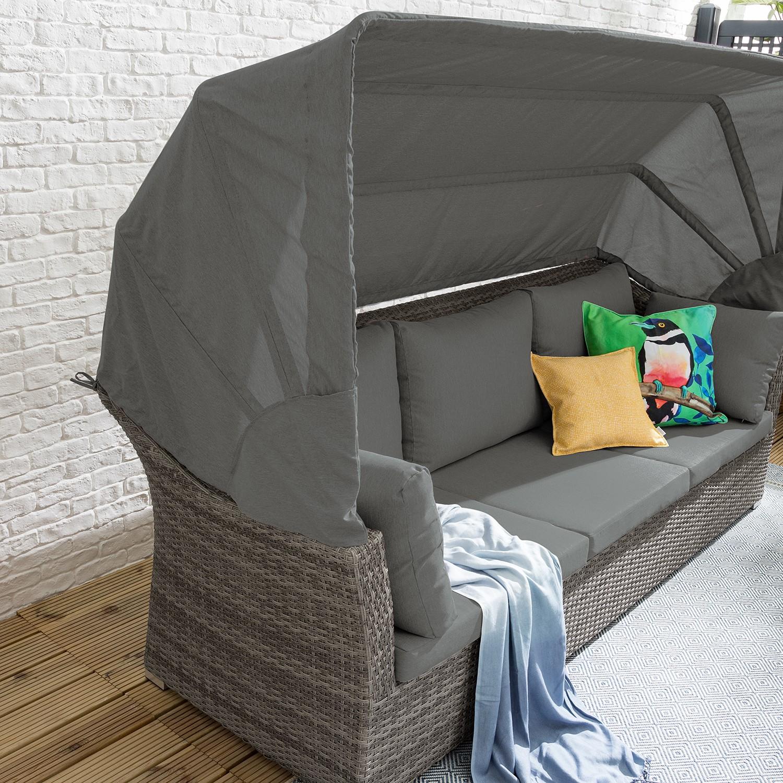 Loungeset Le Vaux Ii (5-teilig) Kaufen Webstoff / Polyrattan - Grau