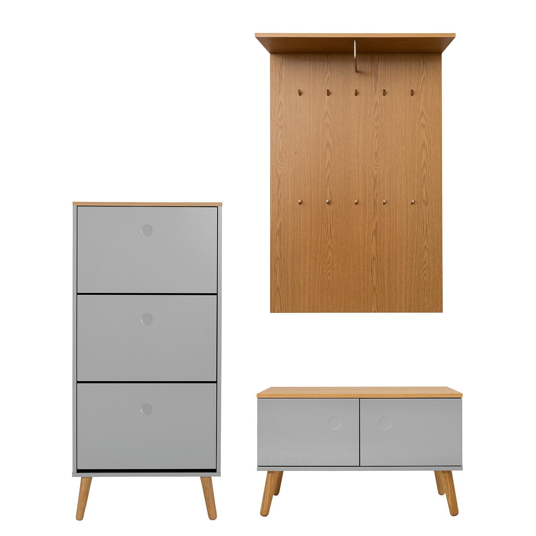 home24 Garderobenset Dot II (3-teilig) | Flur & Diele > Garderoben > Garderoben-Sets | Tenzo