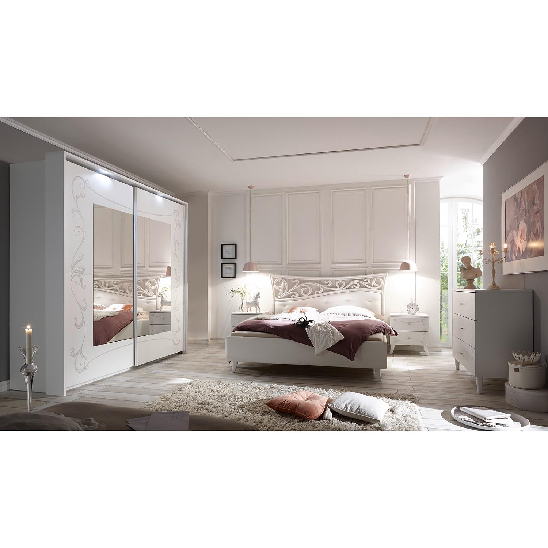 Schlafzimmermöbel - Schlafzimmerset Olema (4-teilig) - LC Mobili - Weiss