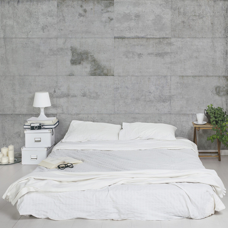 home24 Vliestapete Grosse Betonplatten | Baumarkt > Malern und Tapezieren | Bilderwelten