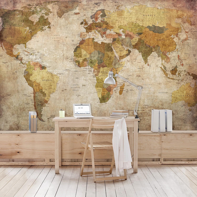 home24 Vliestapete Weltkarte | Baumarkt > Malern und Tapezieren > Tapeten