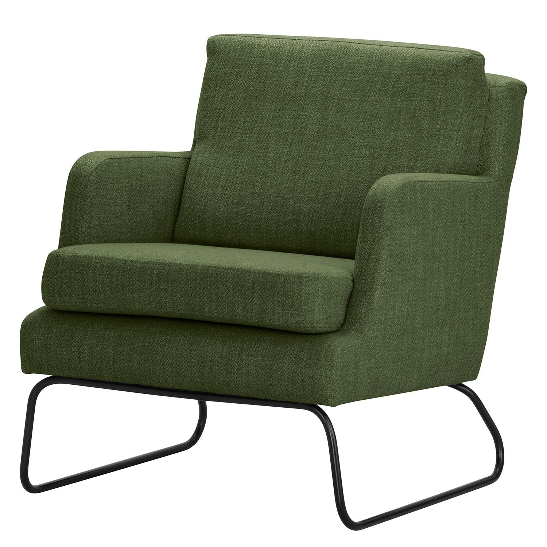 home24 Norrwood Sessel Kopu I Grün Webstoff 69x74x80 cm (BxHxT)