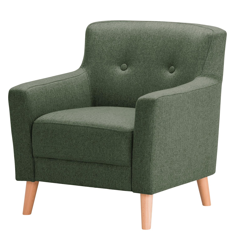 home24 Norrwood Sessel Bette I Grün Webstoff 80x82x80 cm (BxHxT)