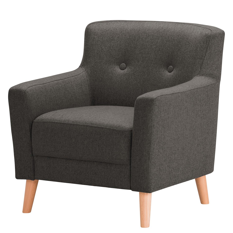 home24 Norrwood Sessel Bette I Schwarz Webstoff 80x82x80 cm (BxHxT)