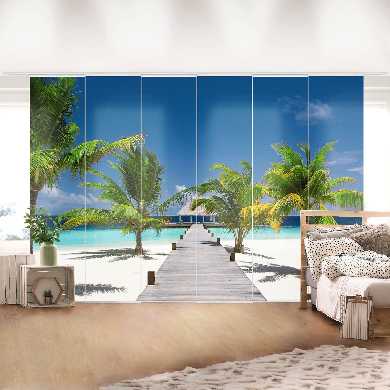 home24 Schiebegardinen To Paradise (6er-Set) | Heimtextilien > Gardinen und Vorhänge > Schiebegardinen und Schiebevorhänge | Bilderwelten