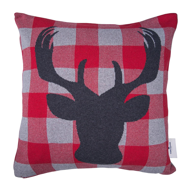 home24 Kissenbezug T-Checked Deer