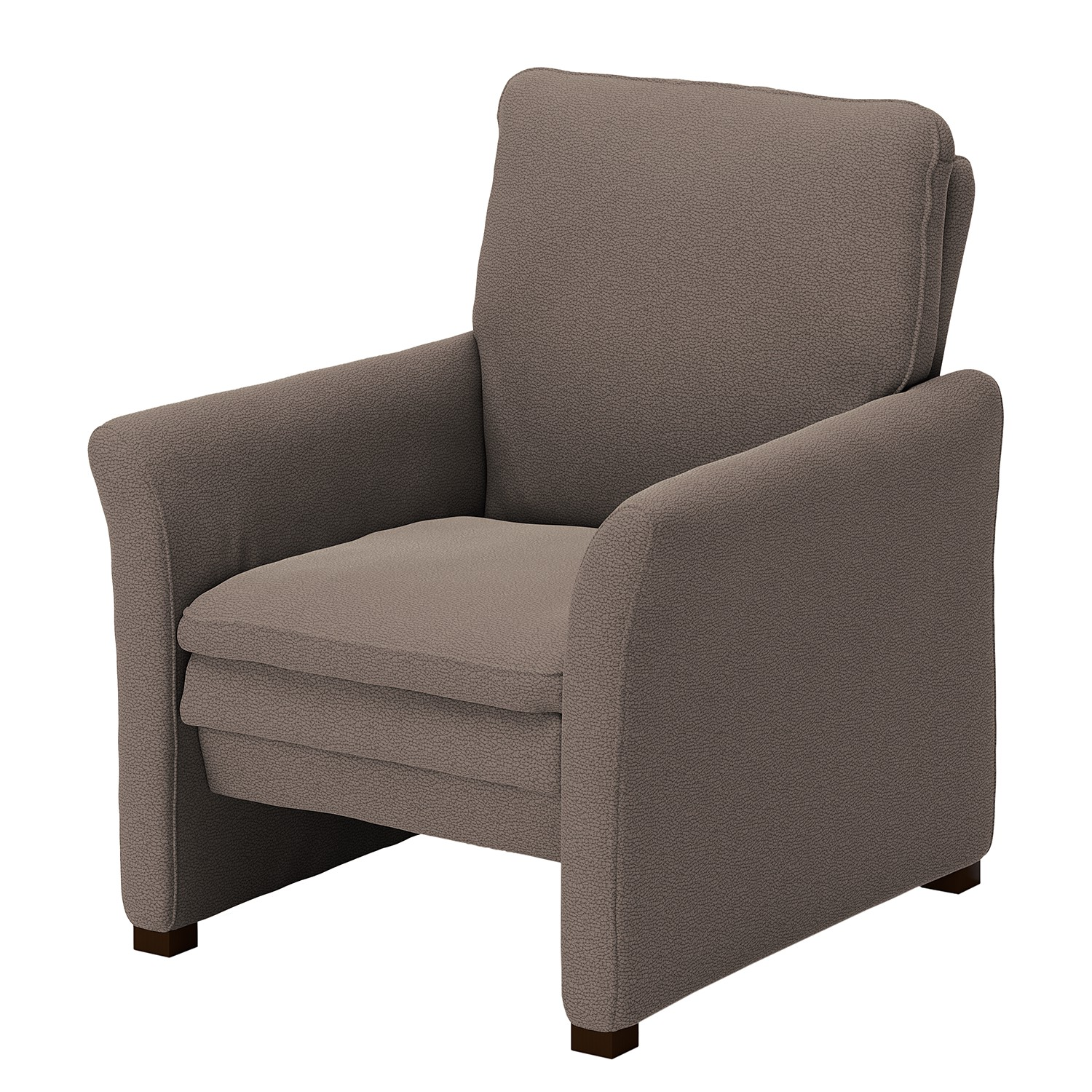 home24 Modoform Sessel Capoma II Taupe Microfaser 80x89x84 cm (BxHxT)