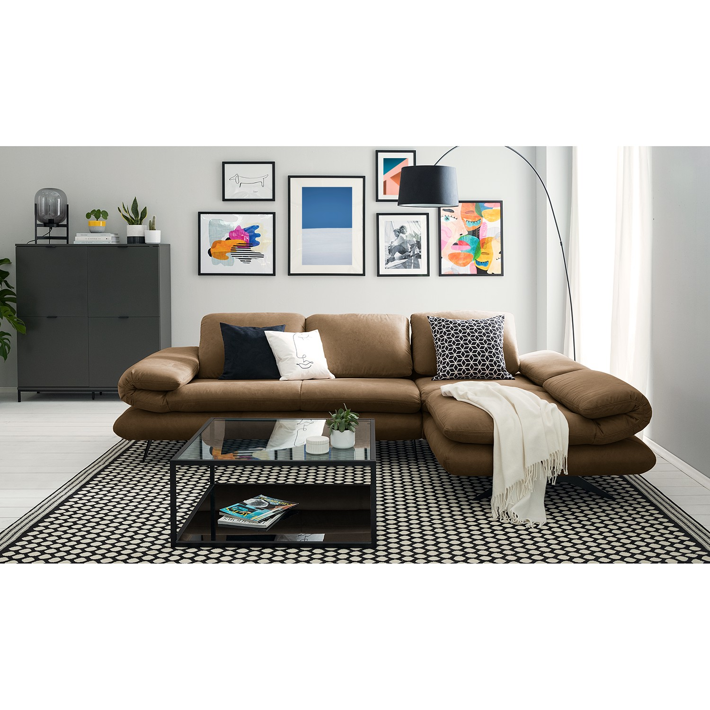 home24 loftscape Ecksofa Whaltey III Latte Macchiato Microfaser 269x83x172 cm