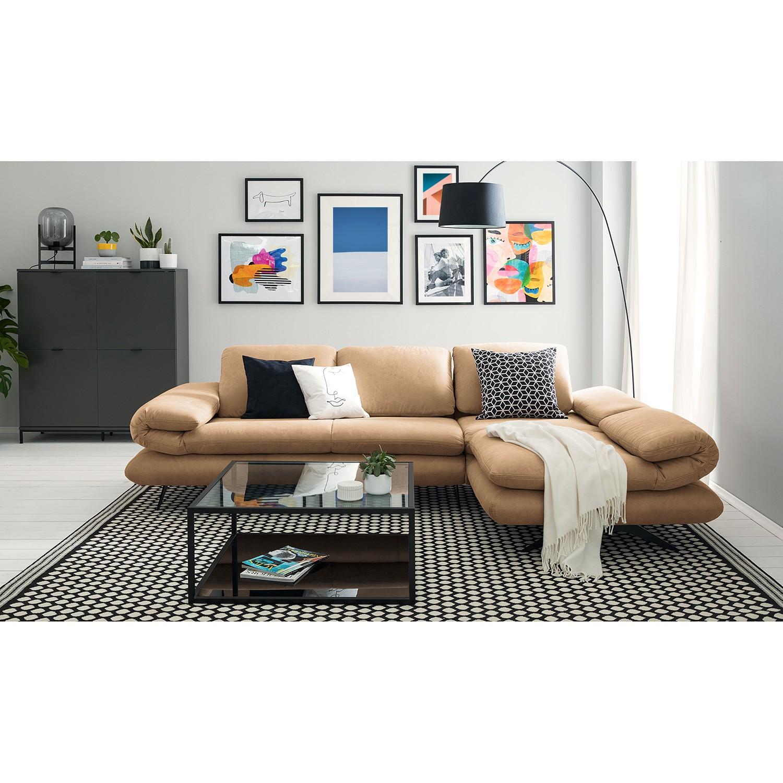 home24 loftscape Ecksofa Whaltey III Beige Microfaser 269x83x172 cm