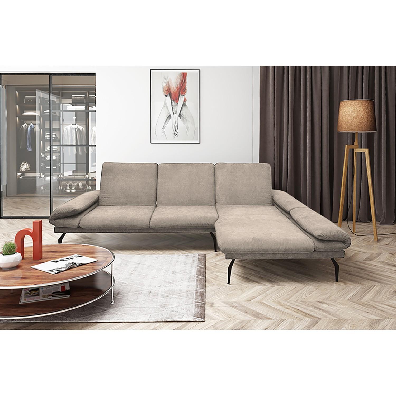home24 loftscape Ecksofa Morell I Kaschmir Microfaser 307x93x178 cm