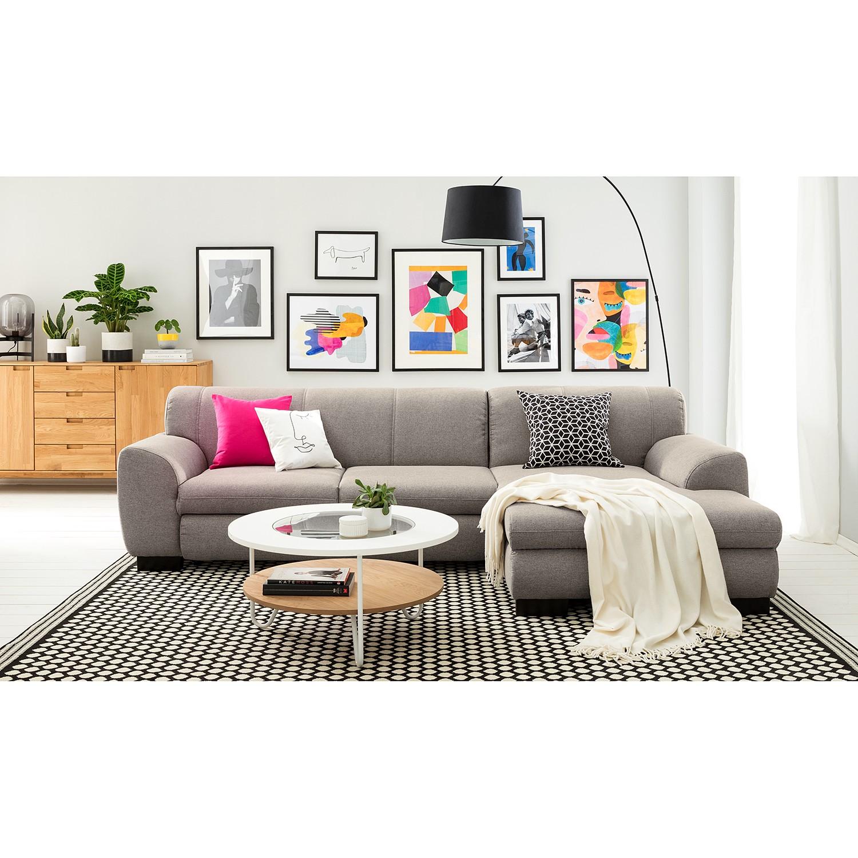 home24 loftscape Ecksofa Lefroy I Granit Webstoff 277x78x156 cm mit Schlaffunktion