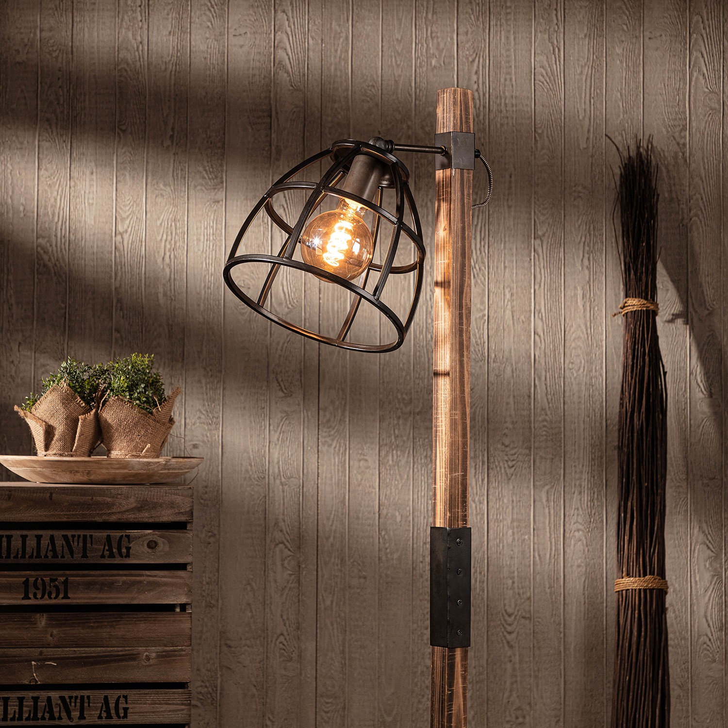 Lampadaire Matrix Wood II