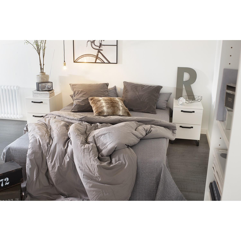 home24 Nachtkommode Shuffle (2er Set) Industry | Schlafzimmer > Kommoden | Rauch