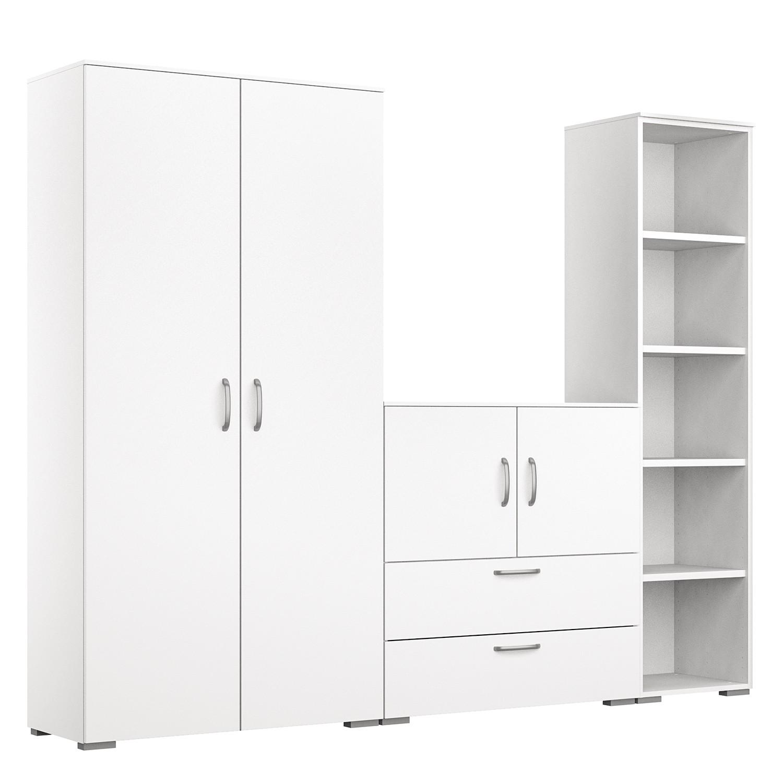 Schlafzimmermöbel - Schrankkombination Shuffle VI Basic - Rauch - Weiss