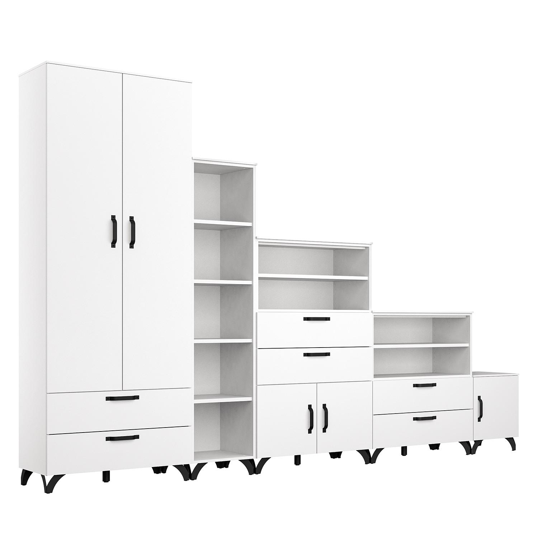 Schlafzimmermöbel - Schrankkombination Shuffle V Industry - Rauch - Weiss
