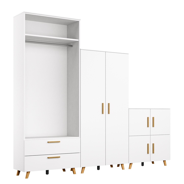 Schlafzimmermöbel - Schrankkombination Shuffle VII Skandi - Rauch - Weiss
