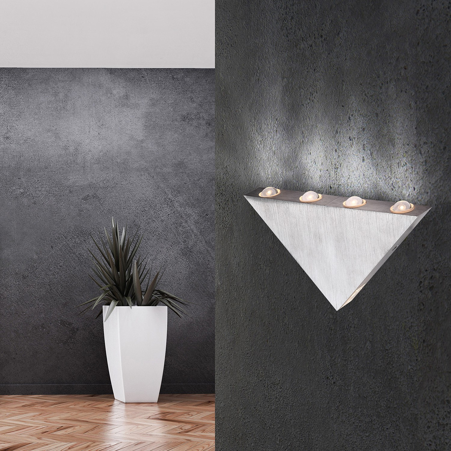 home24 LED-Wandleuchte Gordon