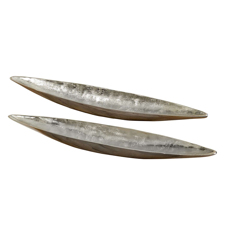 Boltze Dekoschale Phönix Aluminium Silber 2-teilig