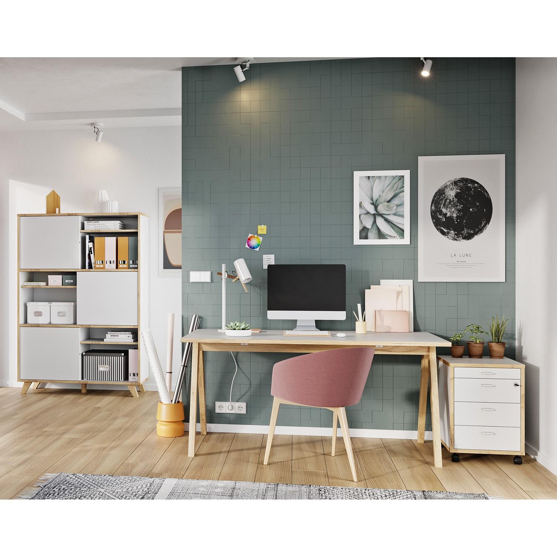home24 Bueroset Svene II (3-teilig) | Büro > Büromöbel-Serien | Weiss | Germania