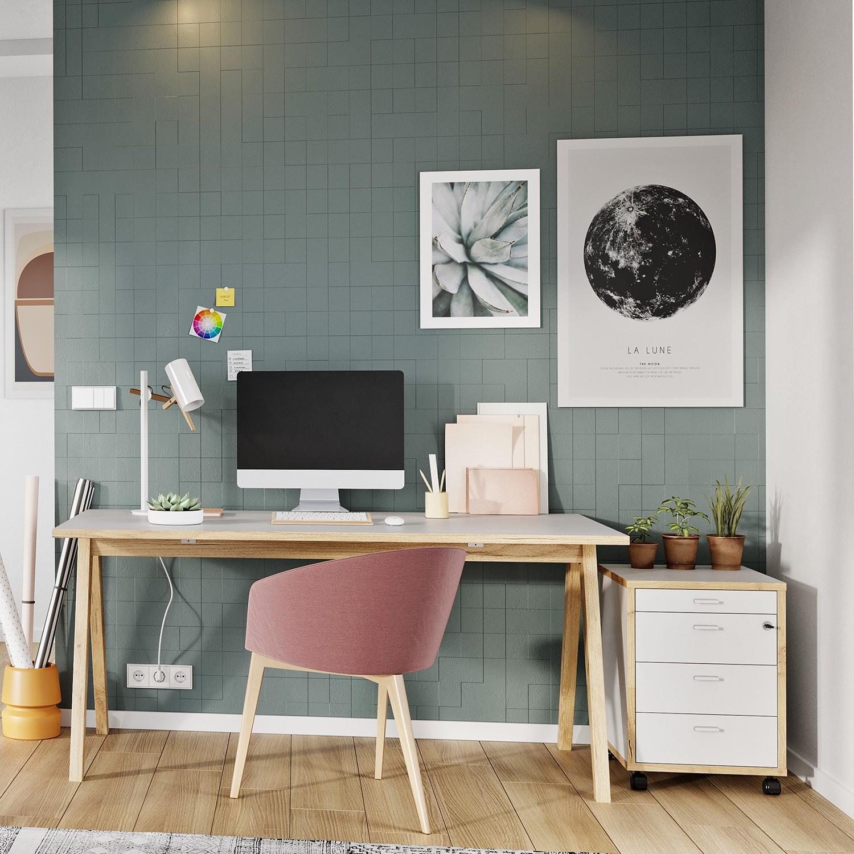 home24 Bueroset Svene III (2-teilig) | Büro > Büromöbel-Serien | Weiss | Germania
