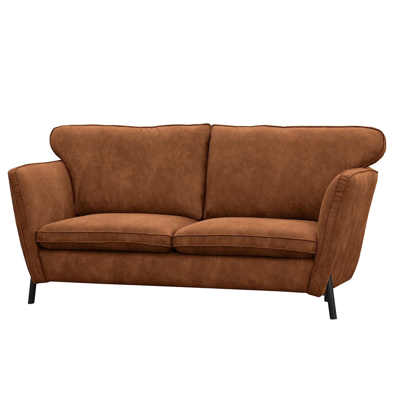 Modoform Sofa Lajedo 2-Sitzer Cognac Microfaser 196x100x100 cm