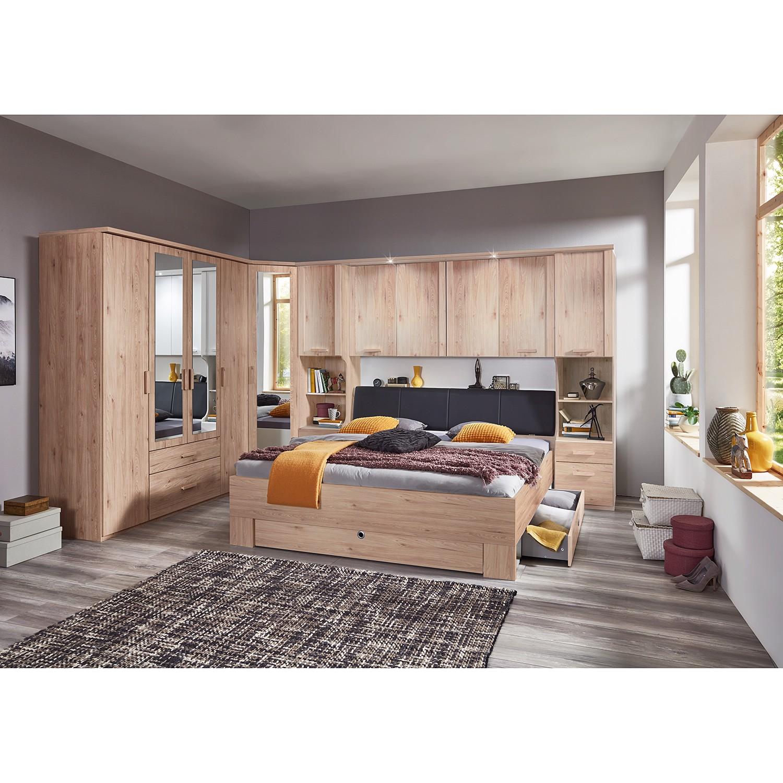 Wimex Bett Mainau 180x200 cm Spanplatte Hickory Eiche Dekor mit Bettkasten