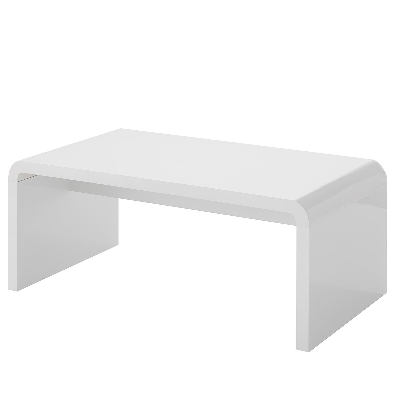 home24 loftscape Couchtisch Shanid MDF Hochglanz Weiß Modern 110x45x60 cm (BxHxT)