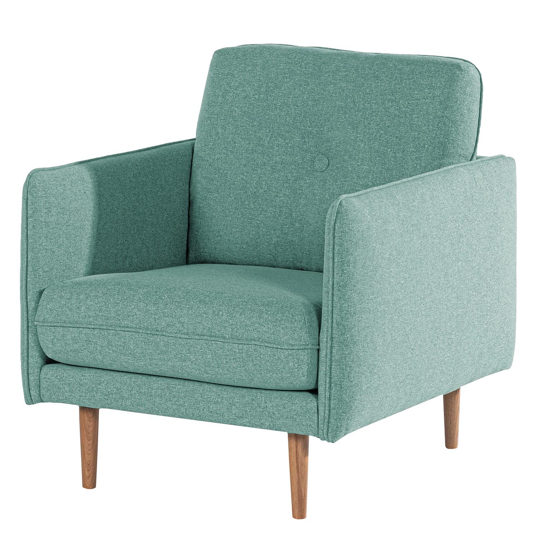 home24 Norrwood Sessel Pigna I Babyblau Webstoff 83x86x94 cm (BxHxT)