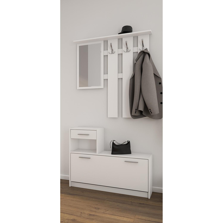 home24 Kompaktgarderobe Brancepeth | Flur & Diele > Garderoben > Garderobenschränke | loftscape