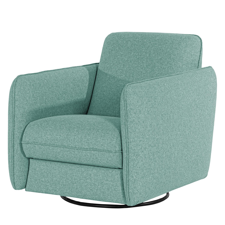 home24 Norrwood Sessel Kayla II Babyblau Webstoff mit Relaxfunktion 74x88x90 cm (BxHxT)