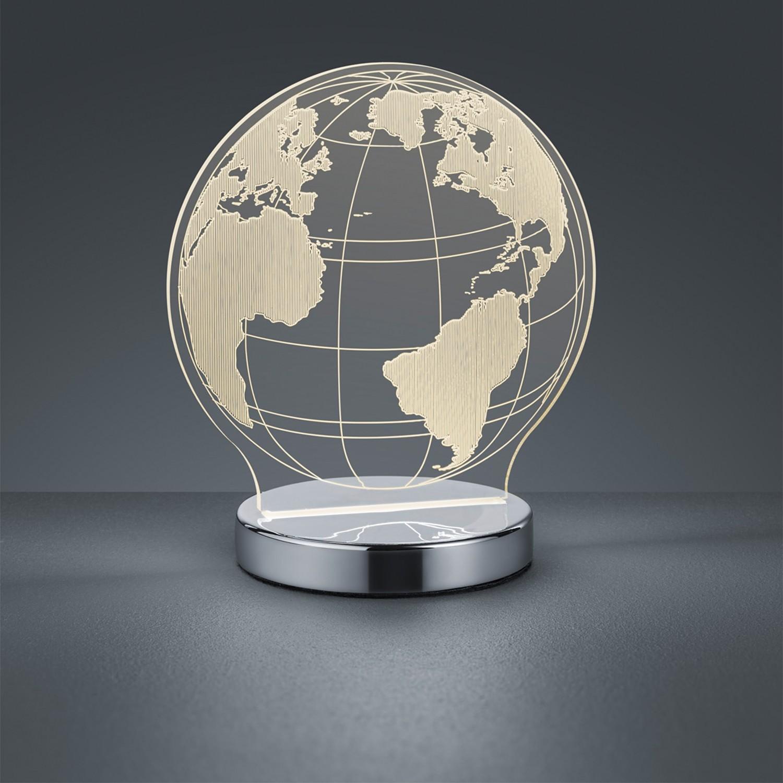 home24 LED-Tischleuchte Globe
