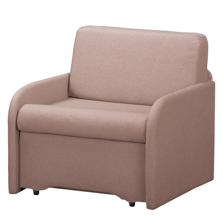 home24 Fredriks Schlafsessel Disley II Mauve 100% Polyester mit Schlaffunktion/Bettkasten 90x84x84 cm (BxHxT)
