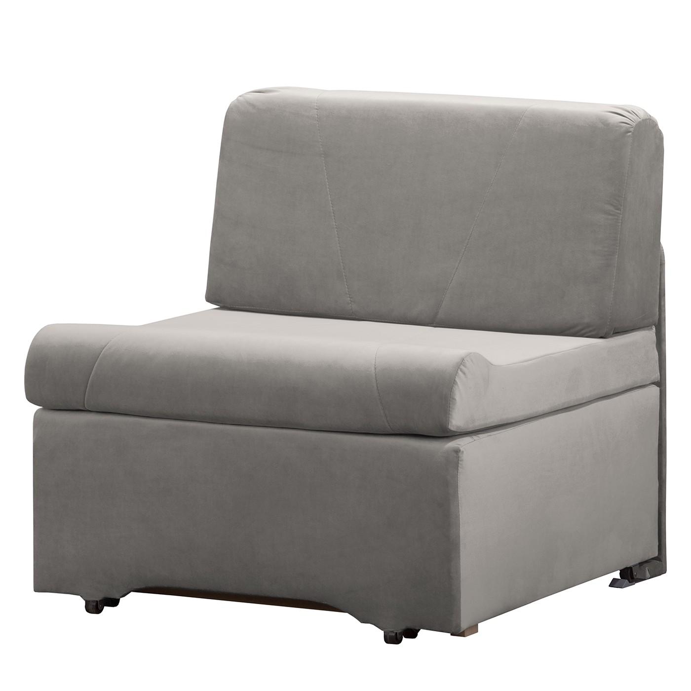 home24 Fredriks Schlafsessel Disley III Grau 100% Polyester mit Schlaffunktion/Bettkasten 86x84x84 cm (BxHxT)