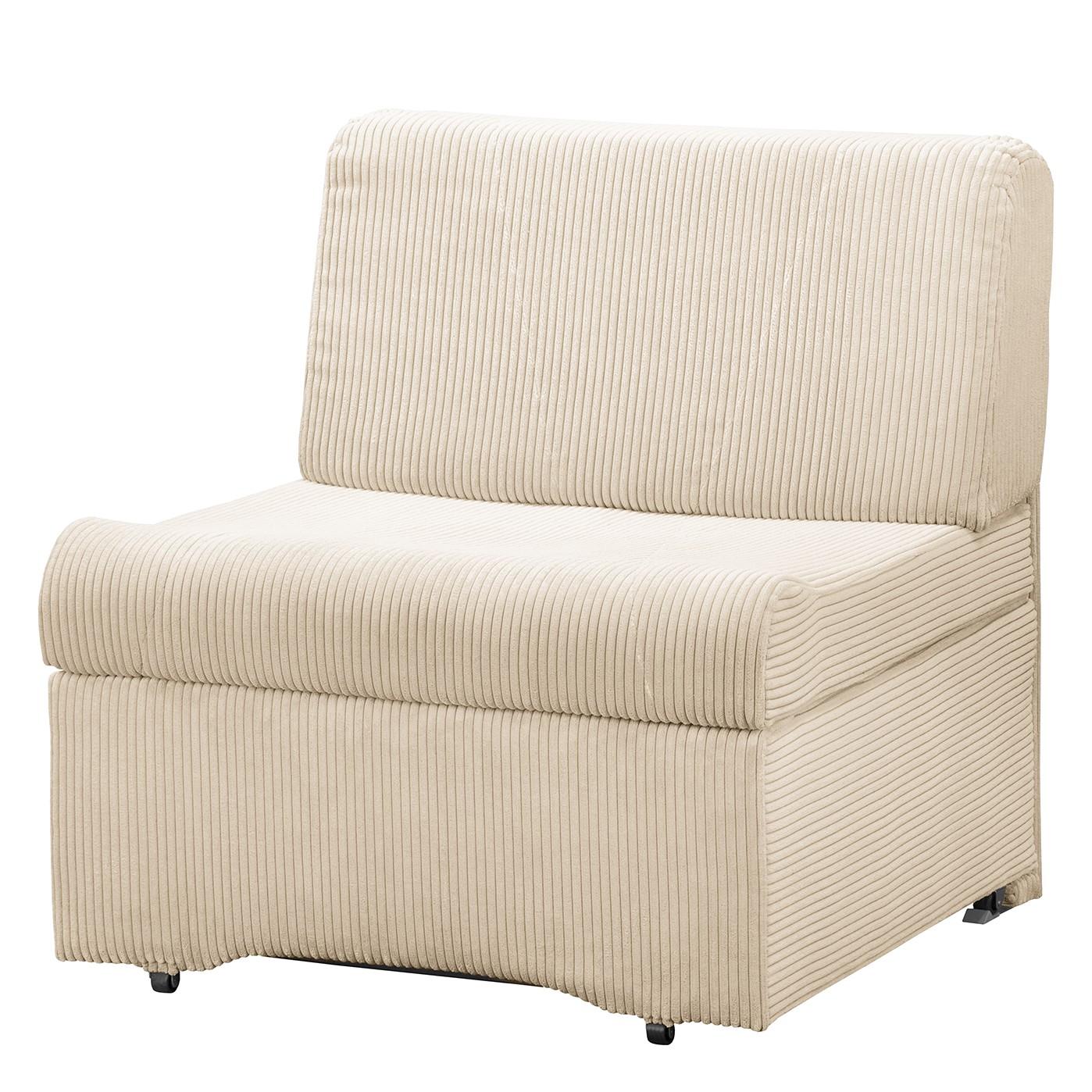 home24 Fredriks Schlafsessel Disley IV Creme 100% Polyester mit Schlaffunktion/Bettkasten 86x84x84 cm (BxHxT)