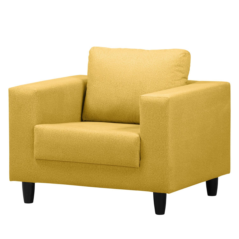 home24 Mørteens Sessel Bexwell II Senfgelb 100% Polyester 90x80x75 cm (BxHxT)