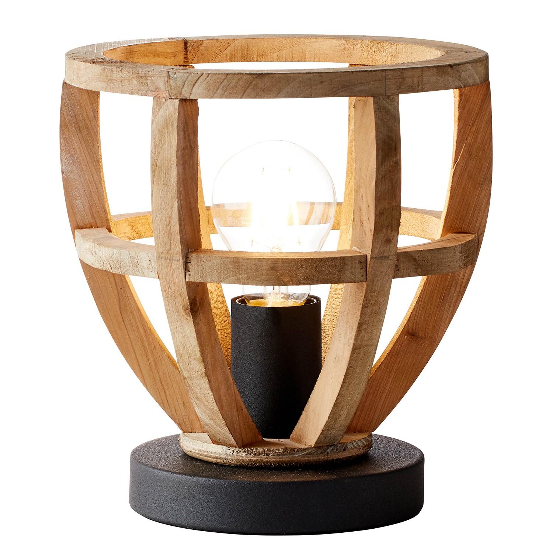home24 Tischleuchte Matrix Wood II