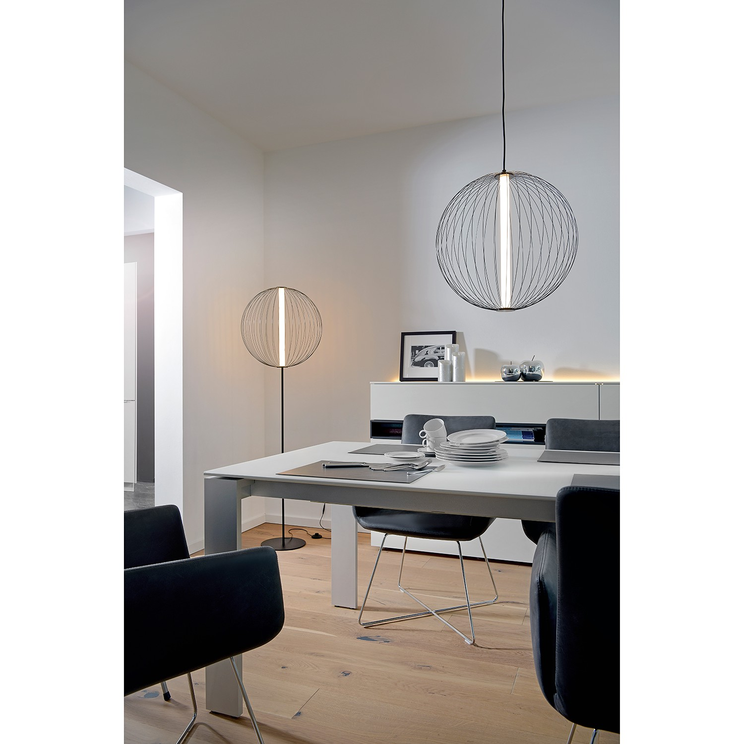 home24 LED-Stehleuchte Atomic
