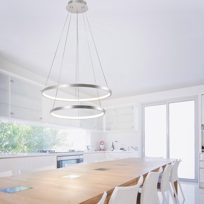 home24 LED-Pendelleuchte Circle IV