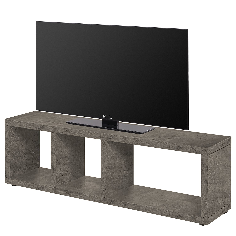 home24 temahome TV-Lowboard Berlin Beton Dekor Wabenplatte 150x45x34 cm (BxHxT) Modern