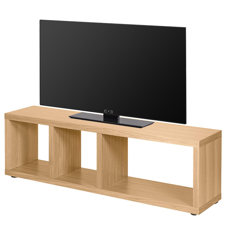 home24 temahome TV-Lowboard Berlin Eiche Spanplatte 150x45x34 cm (BxHxT) Modern