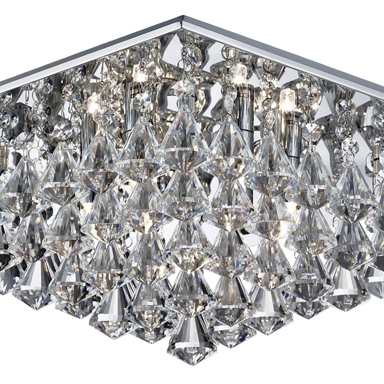 Deckenleuchte Hanna Iii Kaufen Kristallglas / Stahl - 6-flammig